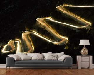 Monte Carlo Rally Night Stage wall mural