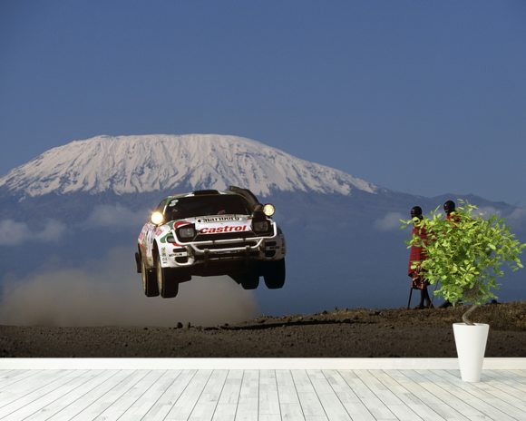 Juha Kankkunenu0027s Toyota Celica, East African Safari Rally Wallpaper Mural  Room Setting