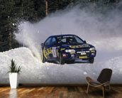 """If In Doubt, Flat Out"" Colin McRae mural wallpaper kitchen preview"