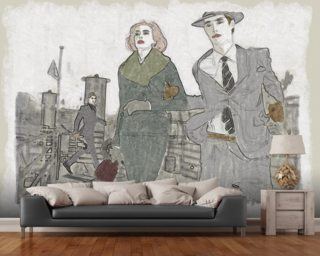 New York series No. 1 wallpaper mural