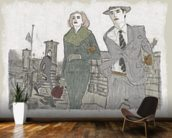 New York series No. 1 wallpaper mural kitchen preview