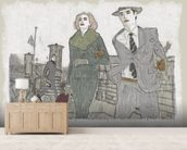 New York series No. 1 wallpaper mural living room preview