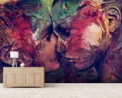 Graffiti Love 2 mural wallpaper living room preview