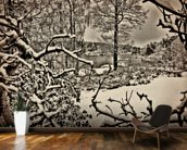 Winter Sweden wall mural kitchen preview