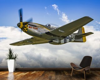 P51D Mustang Miss Velma from onboard Liberty Belle wall mural