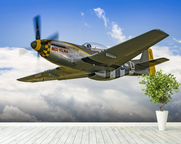 P51D Mustang Miss Velma from onboard Liberty Belle wall mural room setting
