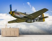 P51D Mustang Miss Velma from onboard Liberty Belle wall mural living room preview