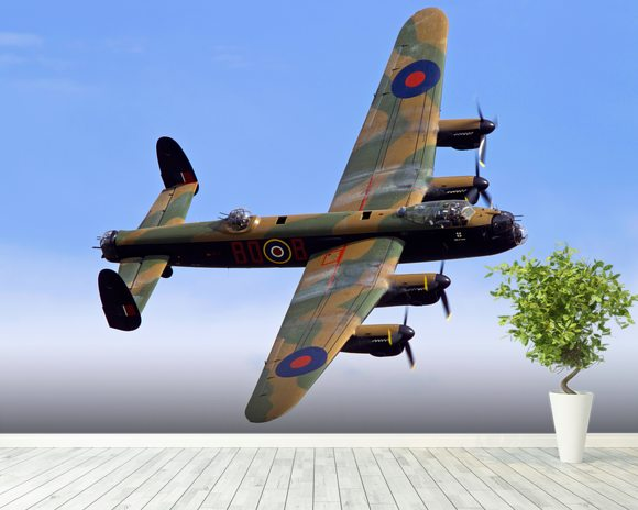 Avro Lancaster wallpaper mural room setting