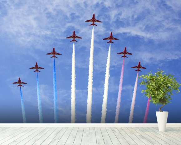 RAF Red Arrows wallpaper mural room setting