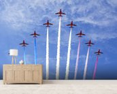 RAF Red Arrows wallpaper mural living room preview