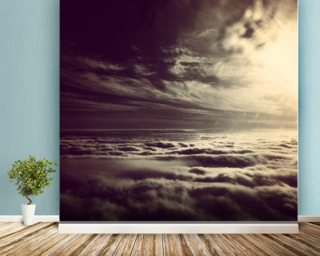 Flying Above The Clouds wallpaper mural
