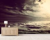 Flying Above The Clouds wallpaper mural living room preview