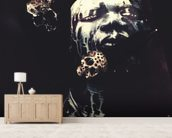 Deep Purple wall mural living room preview
