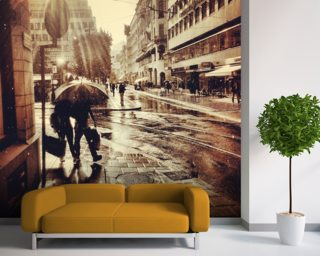 Singing in the Rain Wallpaper Mural Wallpaper Wall Murals