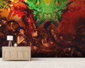 Life in Technicolor wallpaper mural living room preview