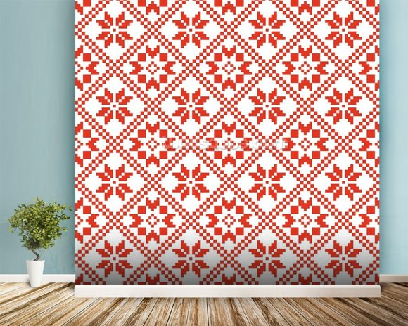 Scandinavian Mural Wallpaper Room Setting