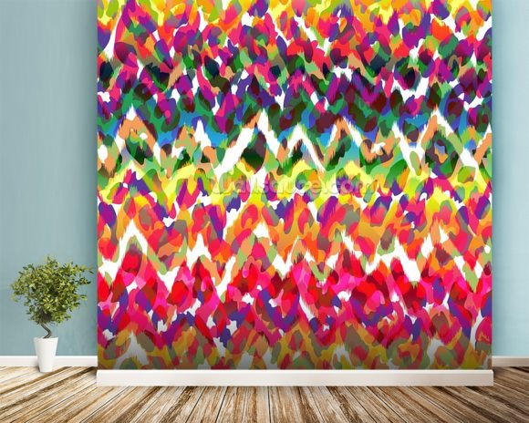 Blobs of Colour wallpaper mural room setting