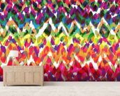 Blobs of Colour wallpaper mural living room preview