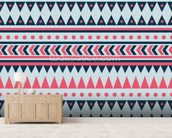 Tribal wall mural living room preview