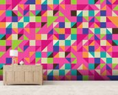Mosaic Pinks wall mural living room preview