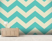 Zigzags wallpaper mural living room preview