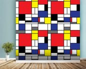Mondrian wall mural in-room view