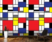 Mondrian wall mural kitchen preview