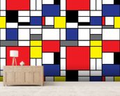 Mondrian wall mural living room preview