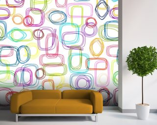 Squares and Rectangles wallpaper mural