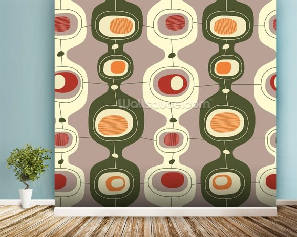 Circles Sequence wall mural room setting
