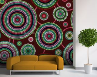 Circles - Ethnic wallpaper mural