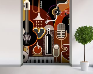 Music Abstract wall mural