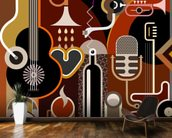 Music Abstract wall mural kitchen preview