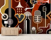 Music Abstract wall mural living room preview