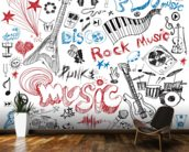Musical Elements wallpaper mural kitchen preview