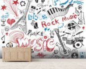Musical Elements wallpaper mural living room preview