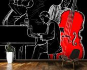 Jazz Trio mural wallpaper kitchen preview