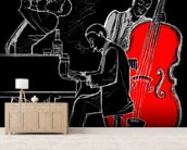 Jazz Trio mural wallpaper living room preview