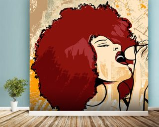 Jazz Singer wall mural
