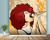 Jazz Singer wall mural in-room view