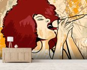 Jazz Singer wall mural living room preview