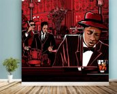 Jazz Piano wallpaper mural in-room view