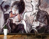 Jazz Band and Dancers mural wallpaper kitchen preview