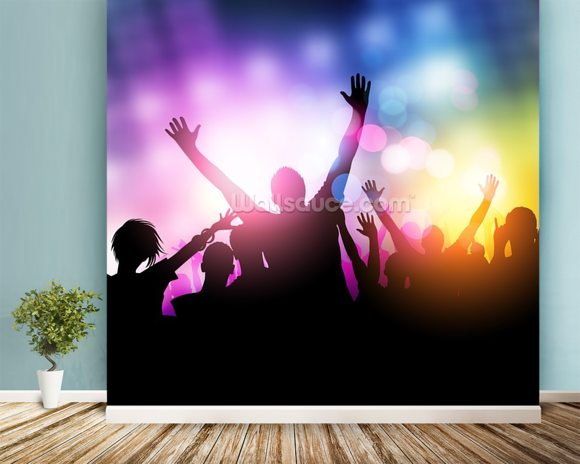 Nightclub wall mural room setting