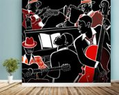 Jazz Band mural wallpaper in-room view