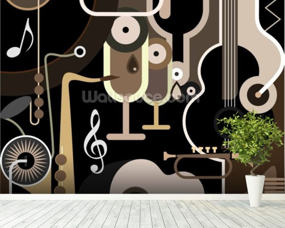 Instruments Abstract wall mural room setting