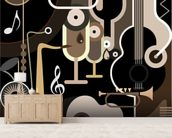 Instruments Abstract wall mural living room preview