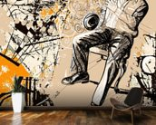Jazz Saxophonist wallpaper mural kitchen preview