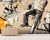 Jazz Saxophonist wallpaper mural living room preview