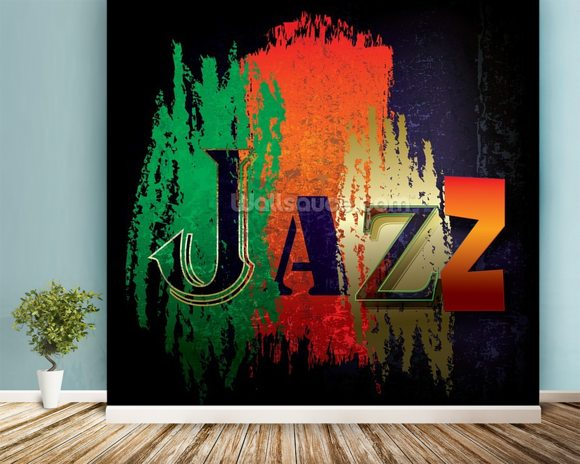 Just Jazz wall mural room setting